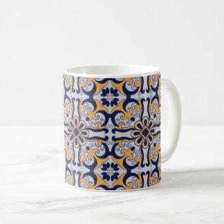 Portuguese tile pattern coffee mug