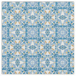 Portuguese Tile Pattern Fabric