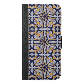 Portuguese tile pattern iPhone 6/6s plus wallet case