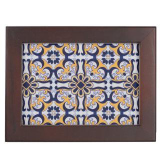 Portuguese tile pattern keepsake box