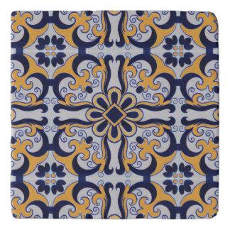Portuguese tile pattern trivet