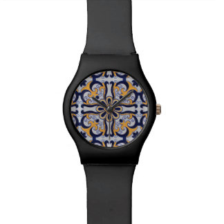 Portuguese tile pattern watch