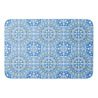 Portuguese tile patterns bath mat