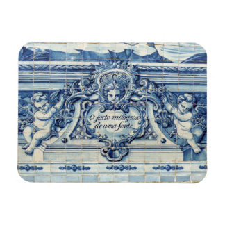 Portuguese tiles with angels from Porto Rectangular Photo Magnet
