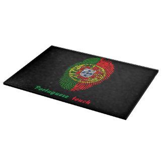 Portuguese touch fingerprint flag cutting board