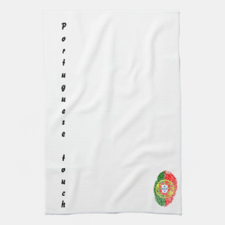 Portuguese touch fingerprint flag kitchen towel