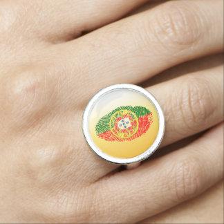 Portuguese touch fingerprint flag rings