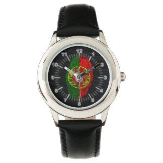 Portuguese touch fingerprint flag wristwatch