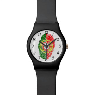 Portuguese touch fingerprint flag wristwatches