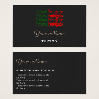 Portuguese Tutor Business Cards