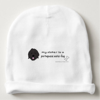 portuguese water dog baby beanie