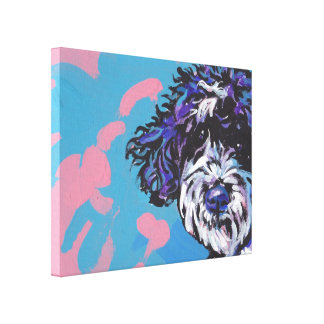 Portuguese Water Dog Bright Colorful Pop Dog Art Canvas Print