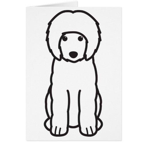 Portuguese Water Dog Cartoon Card