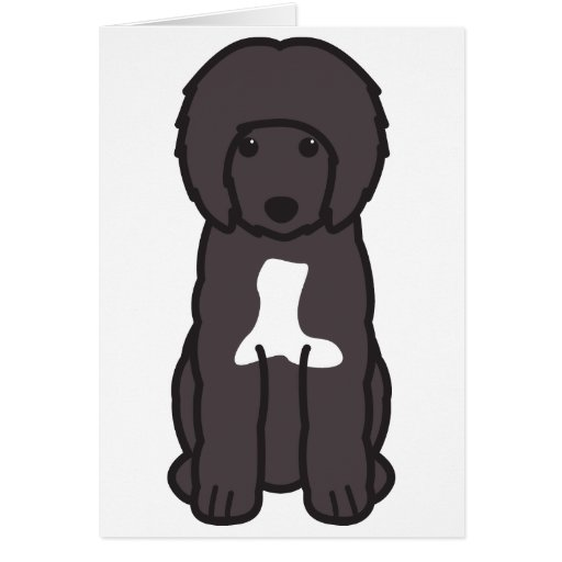 Portuguese Water Dog Cartoon Cards