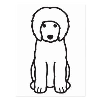 Portuguese Water Dog Cartoon Postcard