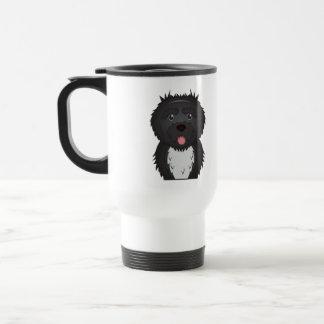 Portuguese Water Dog Cartoon Travel Mug