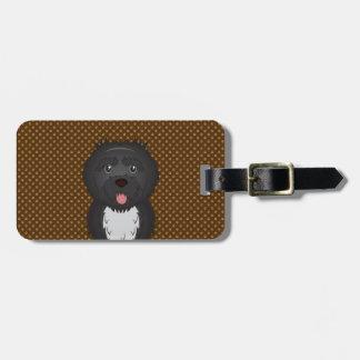 Portuguese Water Dog Dog Cartoon Paws Luggage Tag