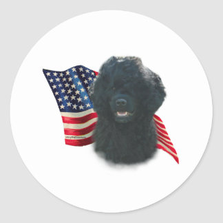 Portuguese Water Dog Flag Classic Round Sticker