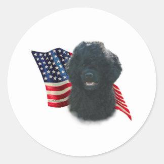 Portuguese Water Dog Flag Round Sticker