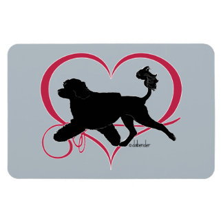 Portuguese Water Dog Heart Lion Magnet