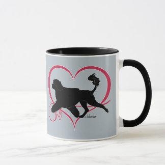 Portuguese Water Dog Heart Lion Mug