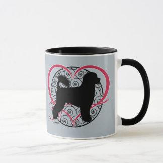 Portuguese Water Dog Heart Waves Retriever Mug