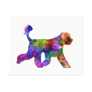 Portuguese Water Dog in watercolor Canvas Print