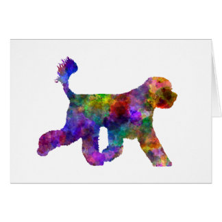 Portuguese Water Dog in watercolor Card