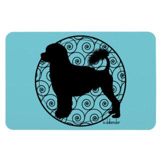 Portuguese Water Dog Lion Waves Magnet