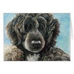 Portuguese Water Dog Original Art Notecard Note Card