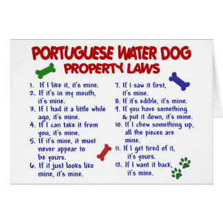 PORTUGUESE WATER DOG Property Laws 2 Greeting Card