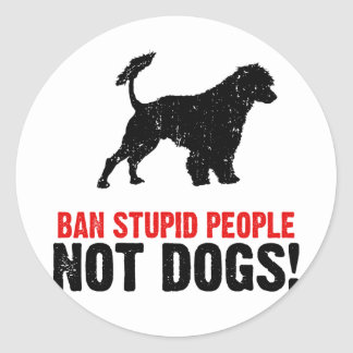 Portuguese Water Dog Round Sticker