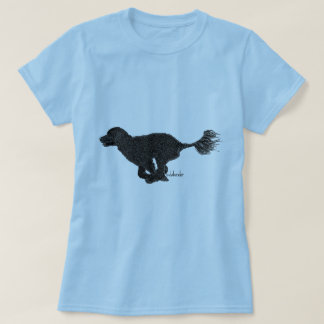 Portuguese Water Dog Running Black Retriever T-Shirt