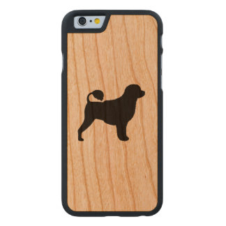Portuguese Water Dog Silhouette Carved Cherry iPhone 6 Case