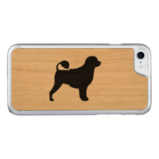 Portuguese Water Dog Silhouette Carved iPhone 8/7 Case