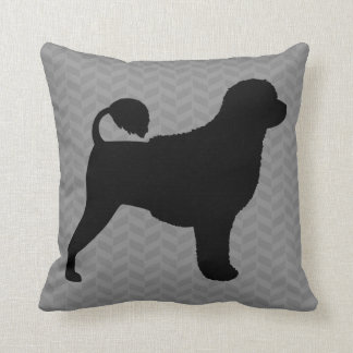 Portuguese Water Dog Silhouette Throw Pillow