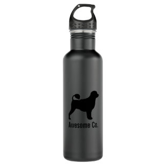 Portuguese Water Dog Silhouette with Custom Text 710 Ml Water Bottle