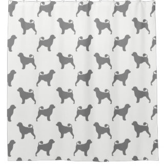 Portuguese Water Dog Silhouettes Pattern