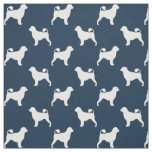 Portuguese Water Dog Silhouettes Pattern Fabric