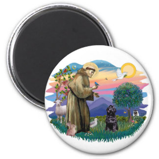 Portuguese Water Dog (sit) 2 Inch Round Magnet