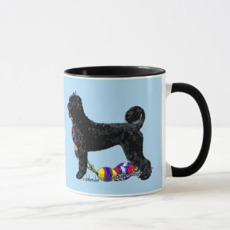 Portuguese Water Dog Standing with Float Line Mug