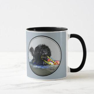 Portuguese Water Dog Swimming with Float Line Mug