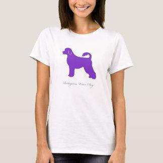 Portuguese Water Dog T-shirt (purple silhouette)