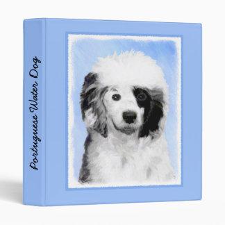 Portuguese Water Dog Vinyl Binders