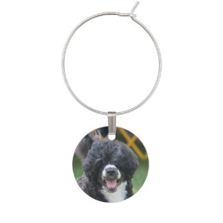 Portuguese Water Dog Wine Glass Charms