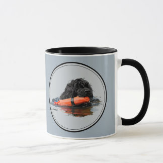 Portuguese Water Dog with Orange Bumper Mug