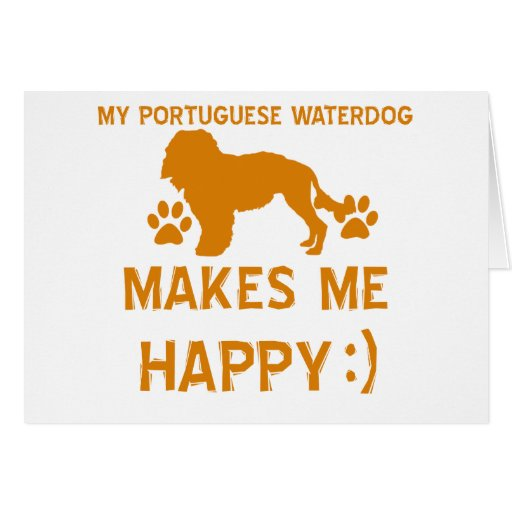 portuguese waterdog gift items greeting card