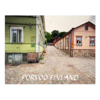 Porvoo Finland Street Scene Postcard