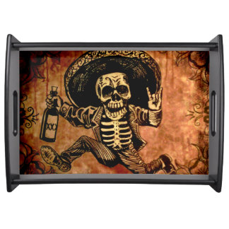 Posada day of the dead Outlaw Serving tray