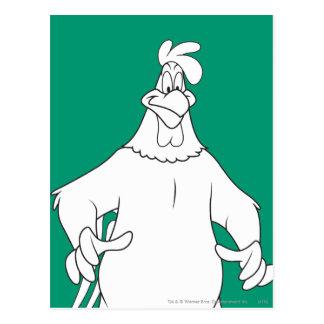 Pose de position de leghorn de corne de brume carte postale